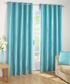 Jazz Ready Made Eyelet Curtain. Aqua CurtainsTeal HouseBlue ...