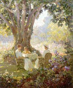 """*High Tea"""", by Abbott Fuller Graves (1859 – 1936)."""