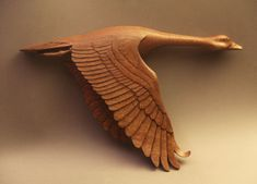 Hand carved Wall mount Canada Goose' Decoy Woodcarving