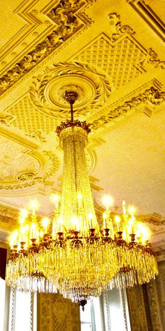 Chandelier in Royal Banquet Room of the Christiansborg Palace,Copenhagen,Denmark