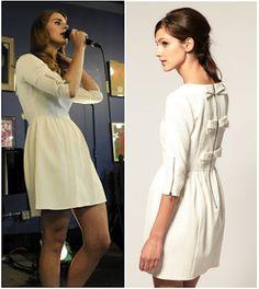 Shop Your Tv: Celebrity Style: Lana Del Rey's White Bow Back Dress