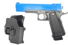 Galaxy G6H M1911 Full Metal Pistol with Holster in blue - bbguns4less