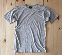 National Athletic Goods Light Weight Athletic Tee in Ash Grey