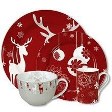 57 Beautiful Christmas Dinnerware Sets: Waechtersbach Holiday Winter Splendor Dinnerware