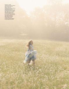British Vogue English Garden Shoot with Georgia May Jagger