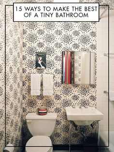 Got a tiny bathroom? Here are our tips and tricks for making a big style impact in a small space.
