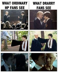 I'm definitely NOT a Drarry shipper, but I thought this pic was hilarious!