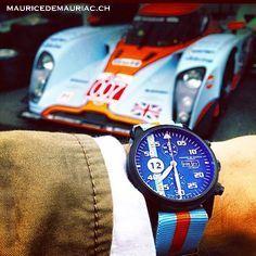Goodwoodspeed festival with my LeMans watch from #mauricedemauriac http://mauricedemauriac.ch/  watches. Swiss watches, men's watches, watches for men, women's watches.