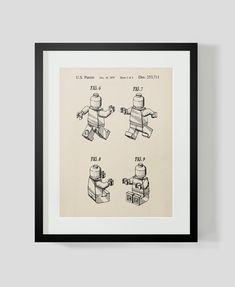 COMMANDÉ- Lego Vintage Figure 2 brevets Print