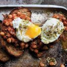 Try the Slow-Cooked Chickpeas on Toast with Poached Eggs Recipe on williams-sonoma.com/