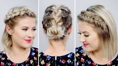 3 Gorgeous Spring Braided Short Hairstyles | Milabu - YouTube