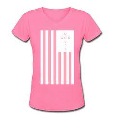 Women's God Moves Flag Tee  www.godmoves.spreadshirt.com