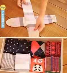 Cette astuce pour plier vos chaussettes va vous changer la vie Konmari, Cosmopolitan, Pajama Pants, Ranger, Storage, Cleaning, Life, Organization, Jewerly