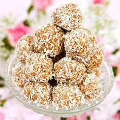Goda havrebollar för dem som inte gillar stark chokladsmak.