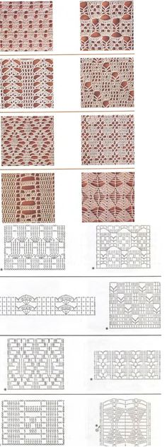 """crochet pattern graphs - I'm thinking curtains! """"crochet pattern graphs - I'm thinking curtains or a table cloth"""", """"I really need to learn how to read d Crochet Stitches Chart, Crochet Motifs, Crochet Diagram, Thread Crochet, Filet Crochet, Knitting Stitches, Crochet Patterns, Crochet Video, Crochet Instructions"""