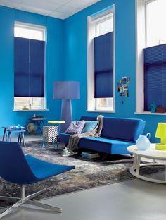 #Luxaflex plissé #shades #blauw #Inspiratie #wonen #interieur