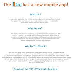 ITRC Mobile App < App Offers Help to Identity Theft Victims