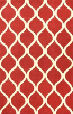 Rugs USA Keno Trellis ACR188 Red Rug, style,home decor,interior,design,pattern,trend,statement,summer,cozy,sale,handmade.