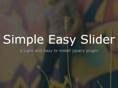 A simple and easy-to-use #jQuery slider plugin that makes it easy to create an automatically cross-fading image #slider / #slideshow for your featured photos/content.