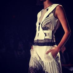 Leather harnesses are part of almost all of the #BCBG looks, says the WSJ's Elizabeth Holmes. #nyfw