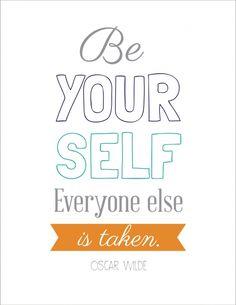 Be Yourself Free Printable • griffanie.com