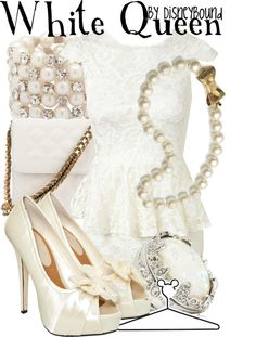 """""""White Queen"""" by lalakay ❤ liked on Polyvore"""