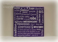 Items similar to Job's Daughter Subway Art Canvas on Etsy Jobs Daughters, Youth Groups, Subway Art, Teenage Years, Diy Projects To Try, Congo, Organizations, Grandchildren, To My Daughter