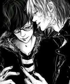 Death Note - Mello 'Mihael Keehl' x Matt 'Mail Jeevas' Manga Anime, Manga Art, Anime Art, Mail Jeevas, Death Note Fanart, L Lawliet, Death Note Near, Bleach Anime, Aesthetic Backgrounds