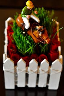 Kentucky Derby Party Table Decor, Jockey & Horse Centerpieces, a must!