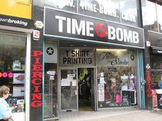 Time Bomb Croydon London, England, City, Cities, English, British, United Kingdom