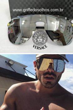 80c4ca292 8 melhores imagens da pasta Óculos de Sol Versace 2019