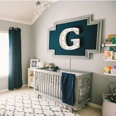 "Project Nursery | Junior on Instagram: ""We love the modern, preppy, clean design of this baby boy nursery! Tap for sources and head to projectnursery.com to see the whole room in our Photo Gallery!"""