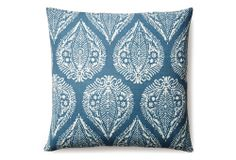 Artisan 20x20 Cotton Pillow, Blue | It's Crisp | One Kings Lane
