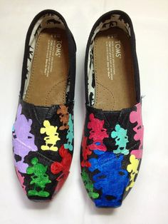 LOVE IT Custom Painted Dooney & Bourke Inspired Disney TOMS shoes