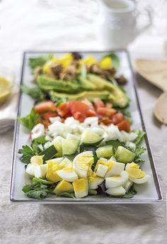Healthy Vegetarian Cobb Salad from Natural Sweet Recipes