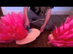 DIY Large Paper Flower, Paper flower Stencil, Paper Flower Backdrop, Backdrop Flowers - YouTube