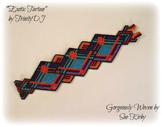 Exotic Tartan Brick Stitch by TrinityDJ Beaded Jewelry Designs, Jewelry Patterns, Bracelet Patterns, Diy Jewelry, Jewellery, Peyote Patterns, Loom Patterns, Beading Patterns, Beading Ideas