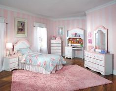 White and Pink Princess Bedroom Set  #AFPinspiredHome