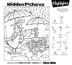 Try solving this Hidden Pictures puzzle yourself, then download the free printable to share with your kids