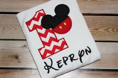 A personal favorite from my Etsy shop https://www.etsy.com/listing/245051956/personalized-mickey-mouse-inspired