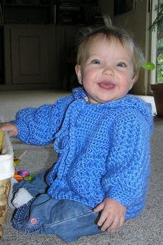 Cuddle Me Hooded Baby Sweater By Dot Matthews - Free Crochet Pattern - (ravelry)
