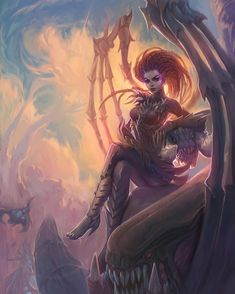Sarah Kerrigan from Starcraft by DziKawa on DeviantArt Kerrigan Starcraft, Starcraft Zerg, Sarah Kerrigan, Teen Art, Picture Video, Photo And Video, Stars Craft, Vintage Fairies, Time Painting