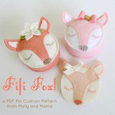Fifi Fox - the pin cushion - by Molly and Mama