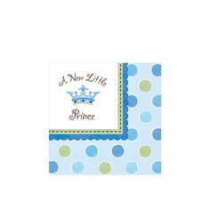 Little Prince Baby Shower Lunch Napkins 16ct