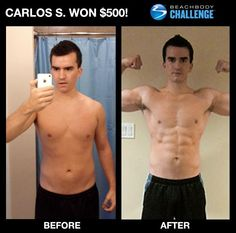 Carlos S, before and after.