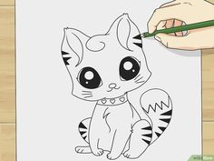 How to Draw a Cute Cartoon Cat: 8 Steps (with Pictures) - wikiHow