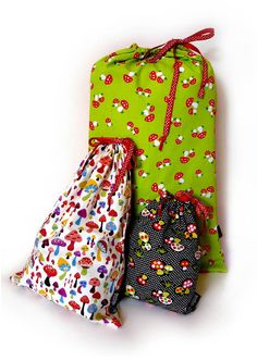 Kids fabric bags for toys and laundry - Pack of 3