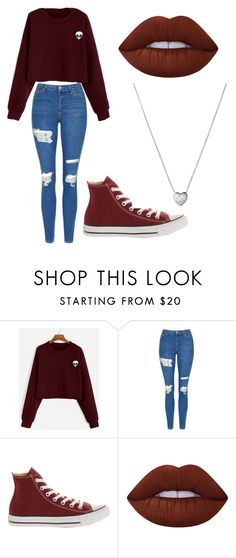 """Untitled #171"" by cruciangyul on Polyvore featuring Topshop, Converse, Lime Crime and Links of London"