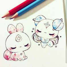 Pin de cupcake monster en cute animals en 2019 drawings, kawaii drawings y Cute Animal Drawings, Kawaii Drawings, Cute Drawings, Pokémon Kawaii, Anime Chibi, Anime Art, Dibujos Cute, Cute Art, Art Sketches