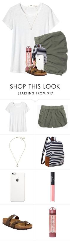 """haven't posted in awhile "" by kendallmichele ❤ liked on Polyvore featuring Toast, Madewell, Kendra Scott, NARS Cosmetics, Birkenstock and Alex and Ani"